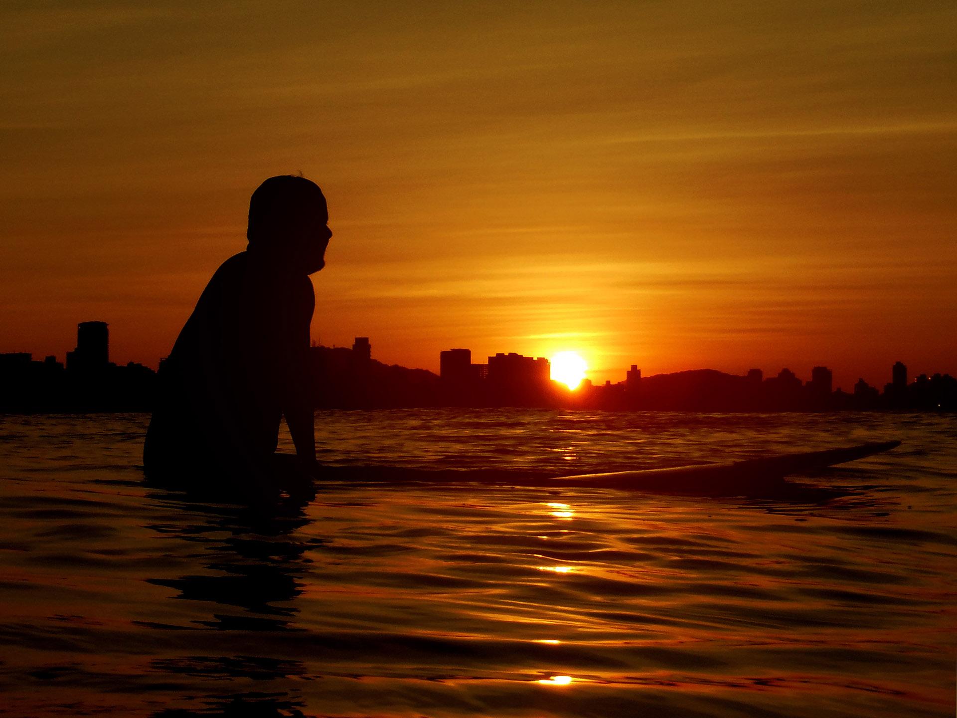 Foto na Quebra Mar de Santos por Gustavo Antelmi
