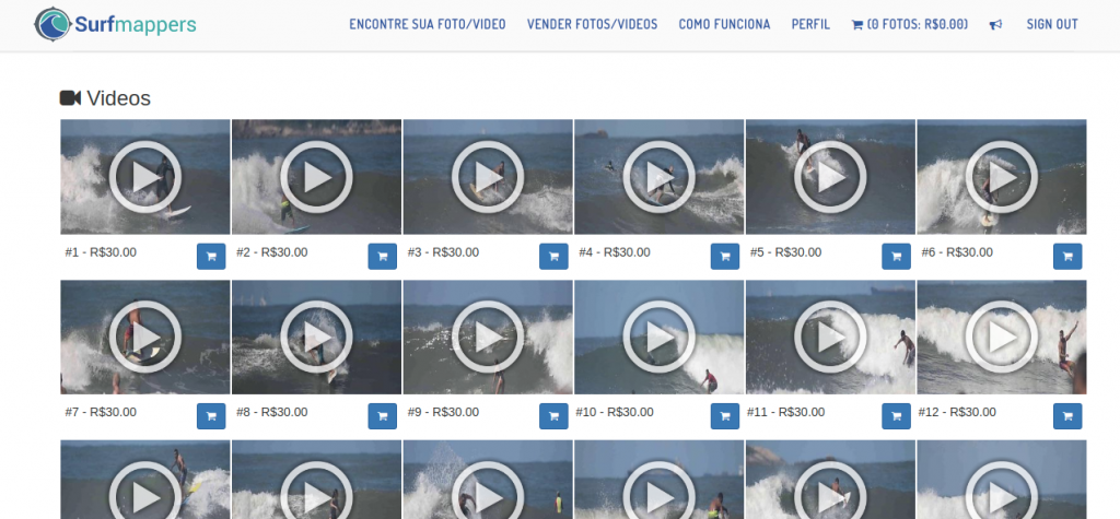 Novidade desse ano, vídeos agora são suportados na Surfmappers