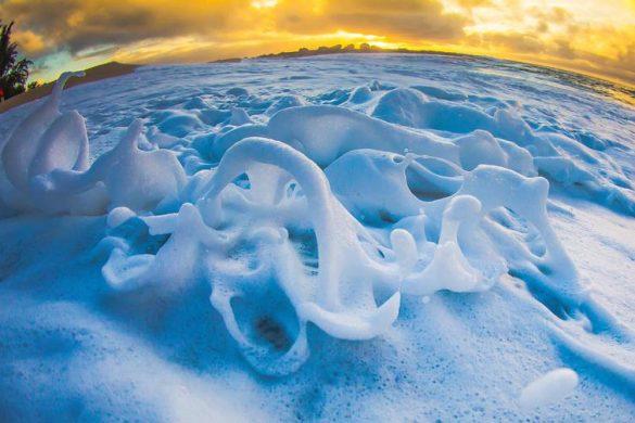 Água salgada congelada por Sebastian Rojas
