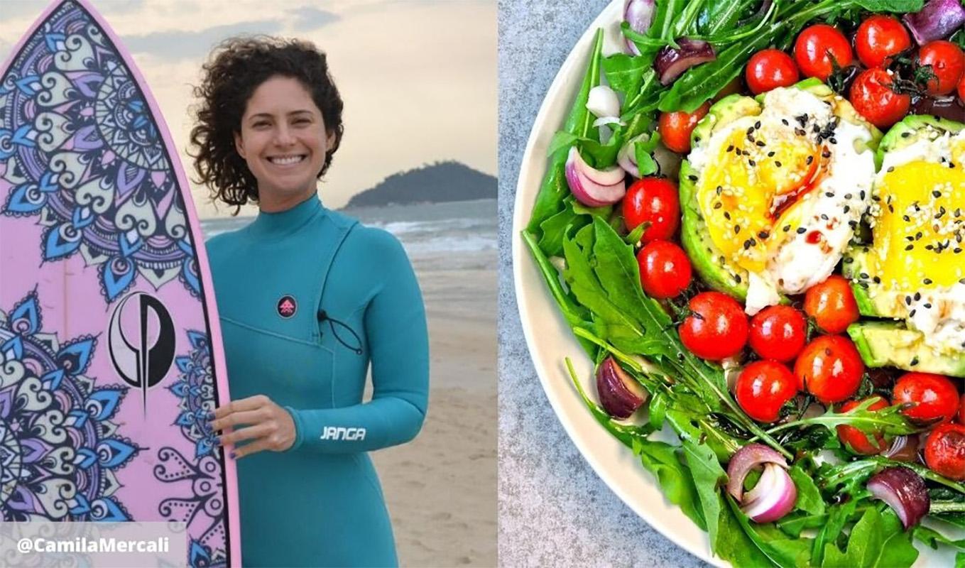 Surfar - dica de alimentação com a nutricionista e surfista Camila Mercali