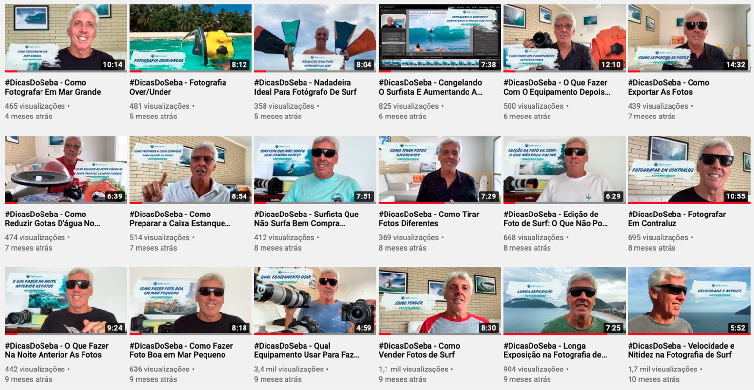 Canal Surfmappers Youtube - fotografia aquática